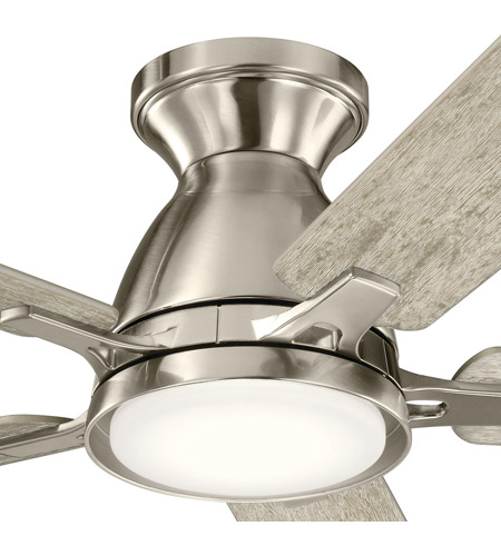 Kichler 330090BSS Arvada 44 inch Brushed Stainless Steel with SILVER/WALNUT Blades Ceiling Fan alternative photo thumbnail