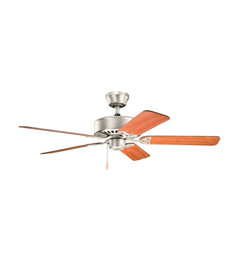 Kichler 330100NI Renew 50 inch Brushed Nickel with Cherry MS-5291 Blades Fan in Walnut / Cherry photo