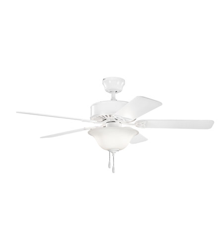 Kichler 330103WH Renew Select Es 50 inch White Fan in Satin Etched Glass photo