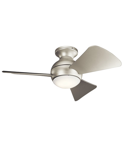 Kichler 330150NI Sola 34 inch Brushed Nickel with Silver Blades Ceiling Fan photo