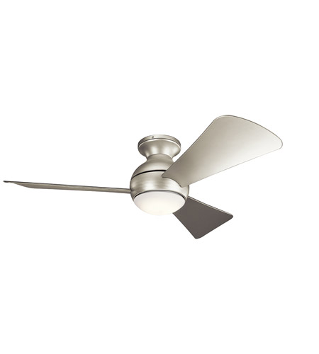 kichler 330151ni sola 44 inch brushed nickel with silver blades ceiling fan photo - Kichler Fans