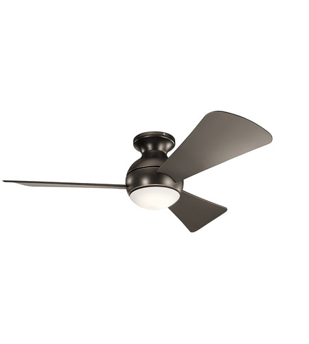 Kichler 330151OZ Sola 44 inch Olde Bronze with Brown Blades Ceiling Fan photo