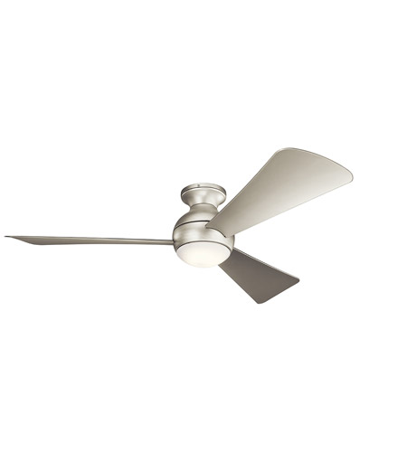 Kichler 330152NI Sola 54 inch Brushed Nickel with SILVER Blades Indoor/Outdoor Ceiling Fan photo