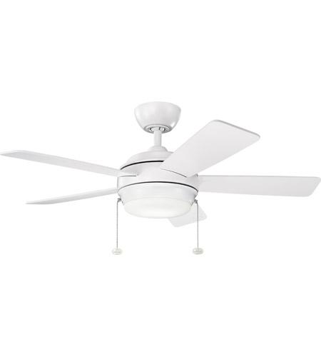 Kichler 330171mwh Starkk 42 Inch Matte White Ceiling Fan Photo