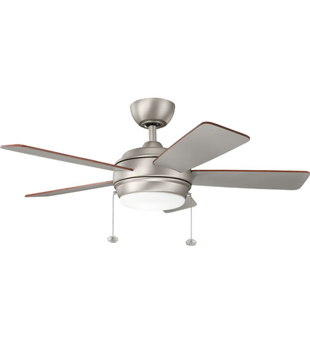 Kichler 330171NI Starkk 42 Inch Brushed Nickel With Silver Blades Ceiling  Fan