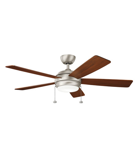 Kichler 330174ni starkk 52 inch brushed nickel with silver blades kichler 330174ni starkk 52 inch brushed nickel with silver blades ceiling fan mozeypictures Image collections