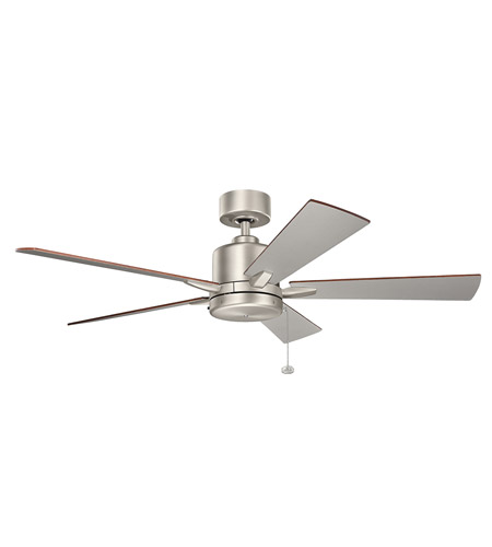 Kichler 330242NI Bowen 52 Inch Brushed Nickel With Silver Blades Ceiling Fan