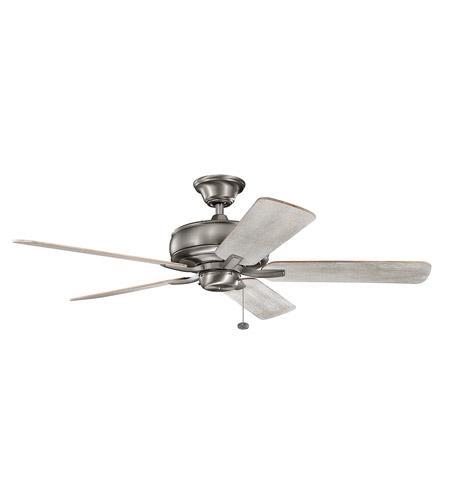 kichler 330247bap terra 52 inch burnished antique pewter with dark white winter blades ceiling fan - Kichler Fans