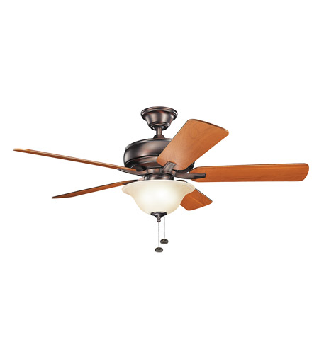 Kichler 330248OBB Terra 52 inch Oil Brushed Bronze with Walnut Blades Ceiling Fan photo
