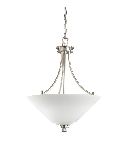 Kichler Lighting Wharton 3 Light Inverted Pendant in Brushed Nickel 3320NI