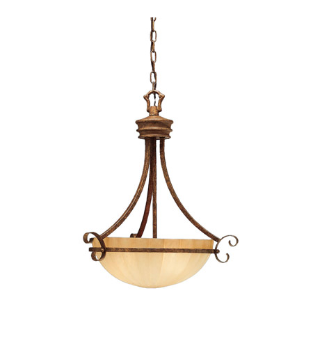 Kichler Lighting Northam 3 Light Inverted Pendant in Lincoln Bronze 3321LBZ photo