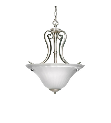 Kichler Lighting Willowmore 2 Light Inverted Pendant in Brushed Nickel 3325NI