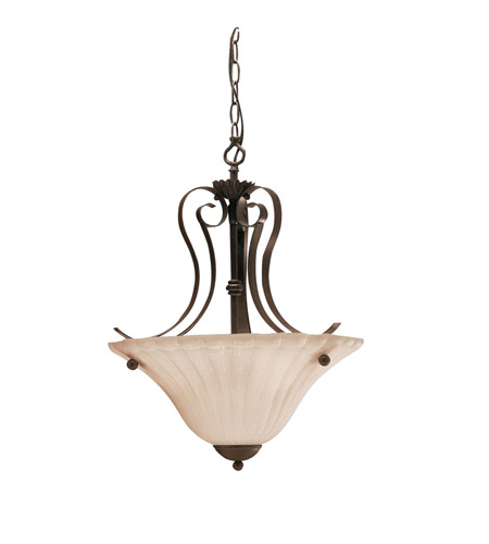 Kichler Lighting Willowmore 2 Light Inverted Pendant in Tannery Bronze 3325TZ photo