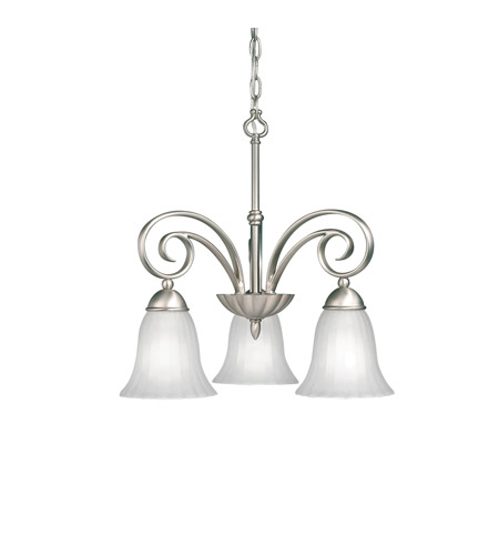 Kichler 3326NI Willowmore 3 Light 19 inch Brushed Nickel Chandelier Ceiling Light photo