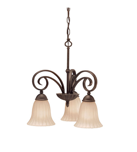 Kichler Lighting Willowmore 3 Light Chandelier in Tannery Bronze 3326TZ photo