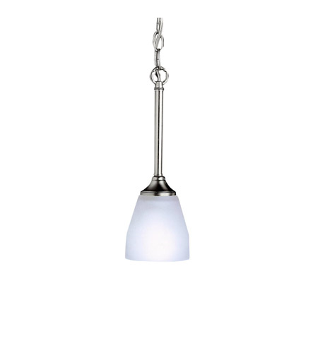 Kichler Lighting Ansonia 1 Light Mini Pendant in Brushed Nickel 3345NI