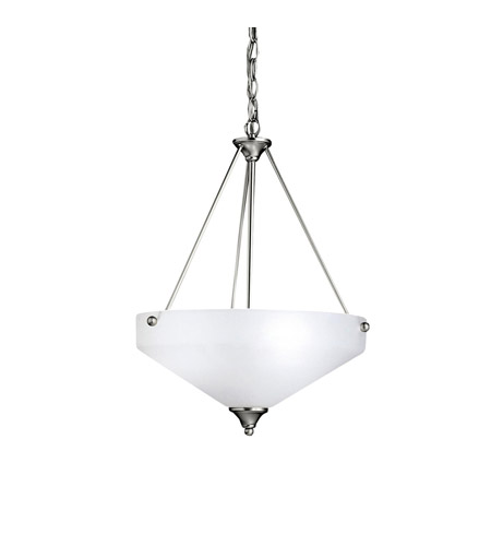 Kichler Lighting Ansonia 3 Light Inverted Pendant in Brushed Nickel 3347NI