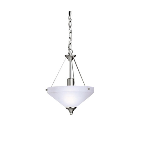 Kichler Lighting Ansonia 1 Light Inverted Pendant in Brushed Nickel 3348NI