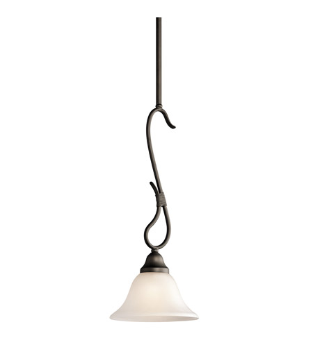 Kichler 3355OZ Stafford 1 Light 8 inch Olde Bronze Mini Pendant Ceiling Light photo