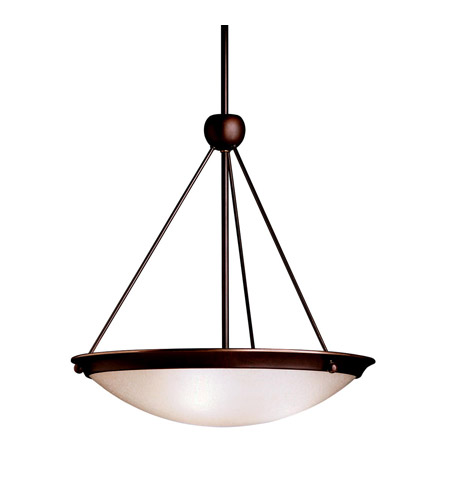 Kichler Lighting Signature 3 Light Inverted Pendant in Olde Bronze 3357OZ photo