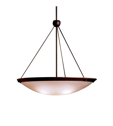 Kichler Lighting Signature 3 Light Inverted Pendant in Olde Bronze 3358OZ