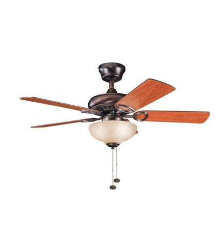 Kichler Lighting Sutter Place Select 3 Light Fan in Oil Brushed Bronze 337014OBB photo