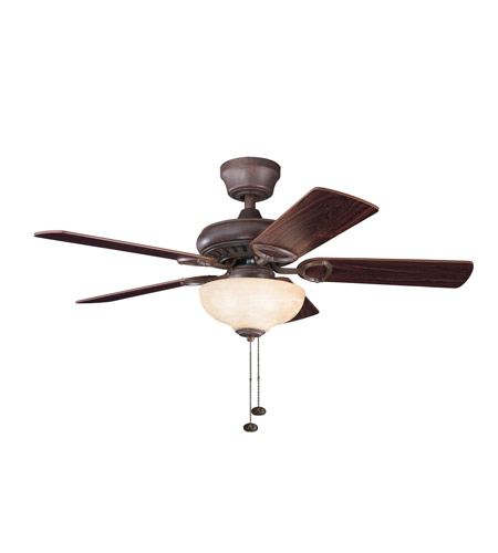 Kichler Lighting Sutter Place Select 3 Light Fan in Tannery Bronze 337014TZ