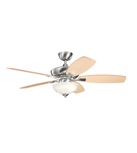 Kichler Lighting Canfield 2 Light Fan in Brushed Stainless Steel 337016BSS