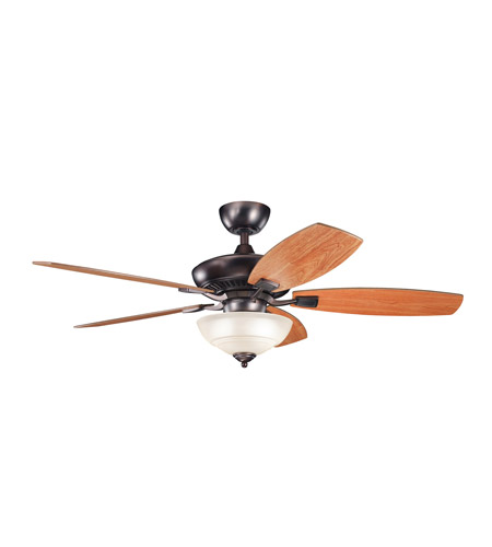 Kichler 337016OBB Canfield Oil Brushed Bronze with Walnut Ms-97503 Blades Fan photo