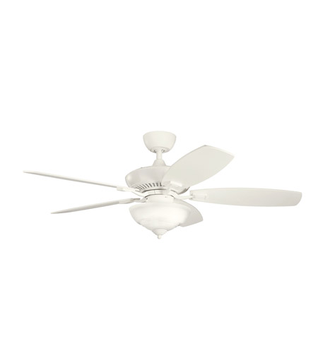 Kichler Lighting Canfield 2 Light Fan in Satin Natural White 337016SNW photo
