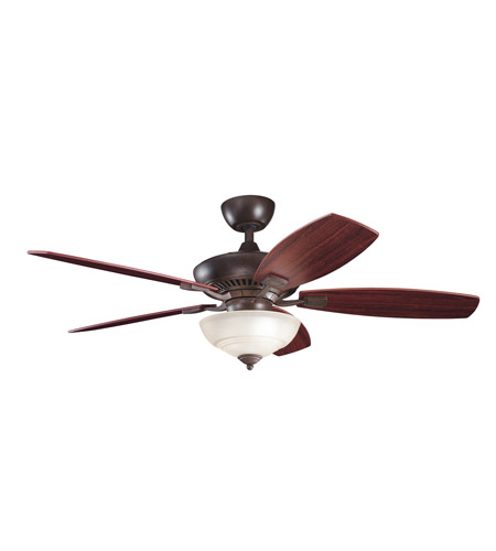 Kichler Lighting Canfield 2 Light Fan in Tannery Bronze 337016TZ