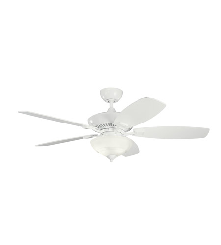 Kichler Lighting Canfield 2 Light Fan in White w/ remt cntrl 337016WH photo