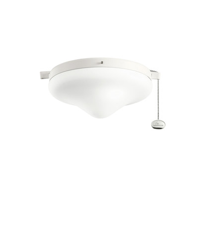 Kichler Lighting Outdoor Wet Fixture 2 Light Fan Light Kit in Satin Natural White 338050SNW