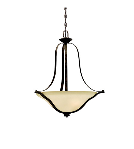 Kichler Lighting Langford 3 Light Inverted Pendant in Canyon Slate 3384CST