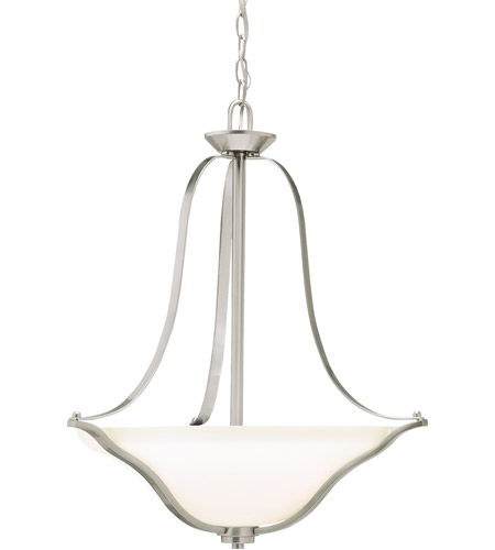 Kichler 3384NIL18 Langford LED 22 inch Brushed Nickel Inverted Pendant Small Ceiling Light