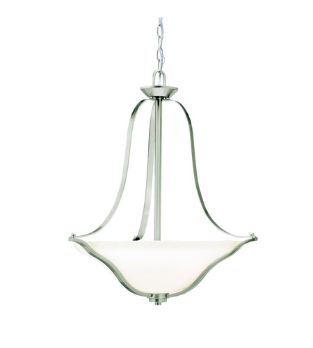 Kichler 3384NIL16 Langford LED 22 inch Brushed Nickel Pendant Ceiling Light