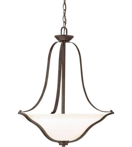 Kichler Lighting Langford 3 Light Inverted Small Pendant in Olde Bronze 3384OZ