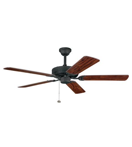 Kichler Lighting Sterling Manor Fan in Distressed Black 339010DBK photo