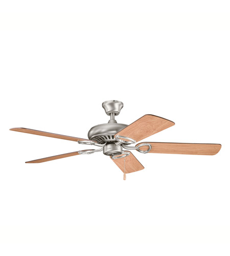 Kichler 339011AP Sutter Place Antique Pewter with Cherry Ms-98514 Blades Fan in Walnut MS-97503 photo