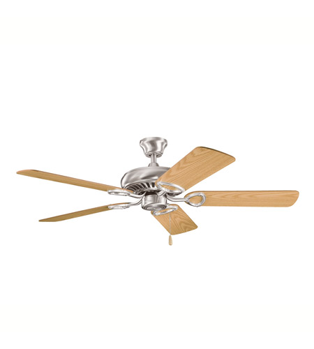 Kichler Lighting Sutter Place Fan in Brushed Stainless Steel 339011BSS