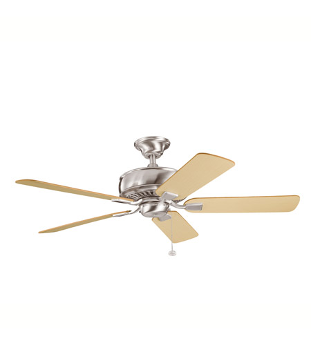 Kichler Lighting Saxon Fan in Brushed Stainless Steel 339012BSS