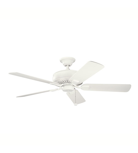 Kichler Lighting Saxon Fan in Satin Natural White 339012SNW