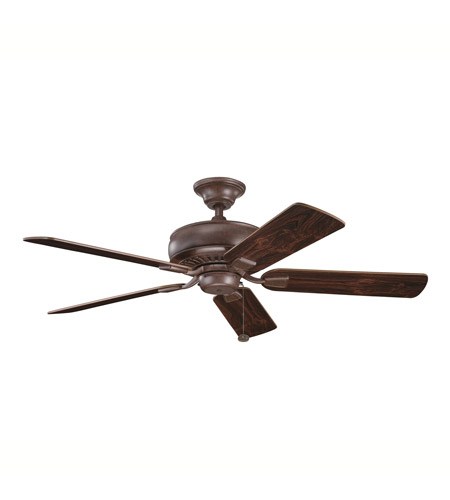 Kichler Lighting Saxon Fan in Tannery Bronze with Teak and Cherry Reversible Blades (not pictured) 339012TZ photo