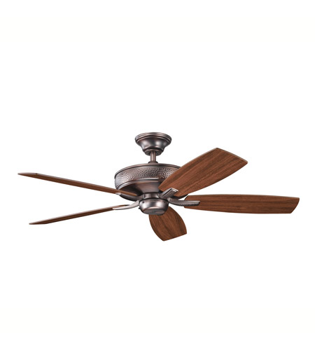 Kichler 339013OBB Monarch II Oil Brushed Bronze with Walnut Ms-97503 Blades Fan photo