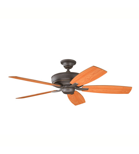 Kichler 339013OZ Monarch II Olde Bronze with Cherry Ms-5291 Blades Fan photo