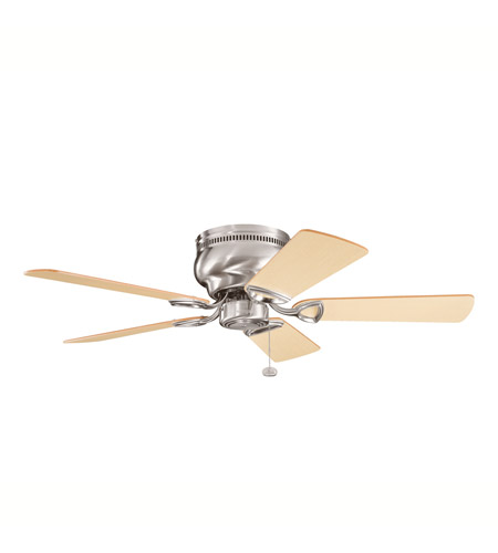Kichler 339017BSS Stratmoor 42 inch Brushed Stainless Steel with Lt Oak Ms-3590 Blades Fan photo