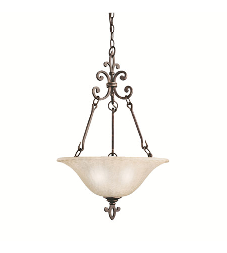 Kichler Lighting Wilton 3 Light Pendant in Carre Bronze 3390CZ photo
