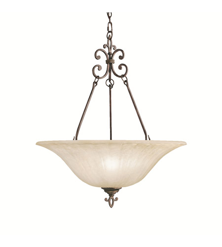 Kichler Lighting Wilton 3 Light Inverted Pendant in Carre Bronze 3391CZ photo