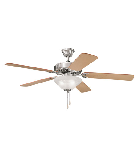 Kichler Lighting Sterling Manor Select 3 Light Fan in Brushed Stainless Steel 339210BSS