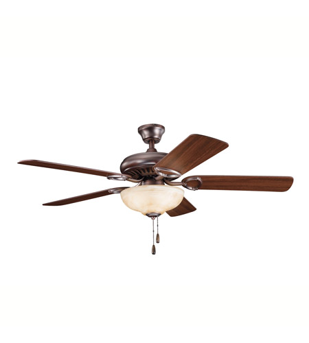 Kichler 339211OBB Sutter Place Select Oil Brushed Bronze with Walnut Ms97503 Blades Fan in Walnut/Medium Cherry photo